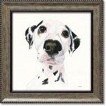 絵画 パスティ ダックロー「ミロ」 インテリア 絵 壁掛け 飾る 犬 ドッグ プレゼント ギフト リビング 玄関 トイレ 額入り かわいい 動物 壁飾り 癒やし  アート フレーム お祝い 額装込