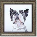絵画 エイミー デル バレ「バード ウォッチング」 インテリア 額入り 絵 壁掛け 飾る 犬 ドッグ プレゼント ギフト かわいい 動物 壁飾り 額装込 癒やし アート フレーム お祝い
