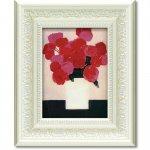 絵画 ベルナール カトラン「赤いバラ」 インテリア 額入り 絵画 絵 飾る かわいい 壁掛け アート リビング  花 フラワー 癒やし プレゼント ギフト 風景 引越 新築 お祝い 植物