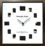 《掛け時計》ディスプレイ クロック チョコレートスタイル