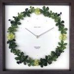 《掛け時計》リース クロック シュガーバイン ブラウン