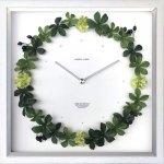 《掛け時計》リース クロック シュガーバイン ホワイト