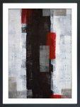 《絵画》抽象画 レッド アンド グレー アブストラクト アート ペイント