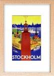 《絵画》ゆうパケット スカンジナビア アート ストックホルム市庁舎 1936年(S)