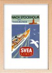 《絵画》ゆうパケット スカンジナビア アート スペアライン船の旅