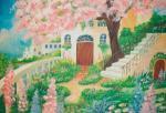 《情景画》花のある庭(坂道なつ)(レンタル対象)
