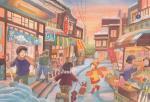 《情景画》冬の商店街(坂道なつ)(レンタル対象)