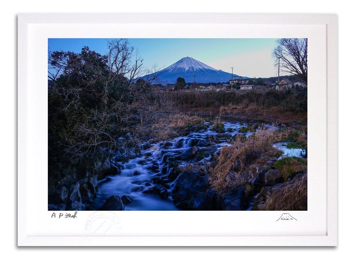 版画 絵画 寒流富士 富士山