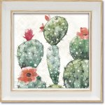 絵画 ミニゲル アートフレーム ディーナ ジューン「スウィート サウスウエスト3」 ゆうパケット  壁掛け アートフレーム サボテン リビング 玄関 飾る ギフト プレゼント 壁に飾る 植物 かわいい