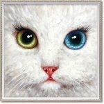 絵画 オイル ペイント アート「アイメイク(Mサイズ)」 壁掛け 手描き 油絵 カラフル 猫 インテリア おしゃれ 部屋に飾る絵 かわいい ギフト プレゼント ハンドペイント アートフレーム