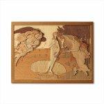 本格木工細工 木はり絵手作りキット「ヴィーナスの誕生」 ハードレベル ゆうパケット 額なし 絵画 アート