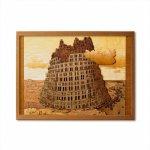 本格木工細工 木はり絵手作りキット「バベルの塔II」 ハードレベル ゆうパケット 額なし 絵画 アート