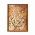 本格木工細工 木はり絵手作りキット「下野黒髪山きりふりの滝」 ハードレベル ゆうパケット 額なし 絵画 アート