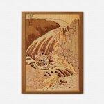 本格木工細工 木はり絵手作りキット「和州吉野義経馬洗滝」 ハードレベル ゆうパケット 額なし 絵画 アート