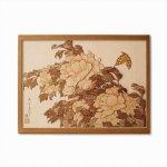 本格木工細工 木はり絵手作りキット「牡丹に蝶」 ハードレベル ゆうパケット 額なし 絵画 アート