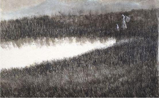 《風景画集》シルクロード 墨の風景
