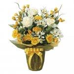 アートフラワー パナマローズ 〔テーブルタイプ〕 インテリア 部屋に飾る 花 おしゃれ ギフト 華やか 御祝 造花 プレゼント リビング 玄関 キッチン フラワー アレンジメント