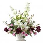 アートフラワー パリスクイーン 〔テーブルタイプ〕 インテリア 部屋に飾る 花 おしゃれ ギフト 華やか 御祝 造花 プレゼント リビング 玄関 キッチン フラワー アレンジメント