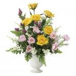 アートフラワー プリムローズ 〔テーブルタイプ〕 インテリア 部屋に飾る 花 おしゃれ ギフト 華やか 御祝 造花 プレゼント リビング 玄関 キッチン フラワー アレンジメント