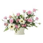 アートフラワー シルフィローズ 〔テーブルタイプ〕 インテリア 部屋に飾る 花 おしゃれ ギフト 華やか 御祝 造花 プレゼント リビング 玄関 キッチン フラワー アレンジメント