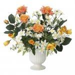 アートフラワー ビビットローズ 〔テーブルタイプ〕 インテリア 部屋に飾る 花 おしゃれ ギフト 華やか 御祝 造花 プレゼント リビング 玄関 キッチン フラワー アレンジメント