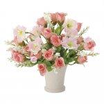 アートフラワー プチピンク 〔テーブルタイプ〕 インテリア 部屋に飾る 花 おしゃれ ギフト 華やか 御祝 造花 プレゼント リビング 玄関 キッチン フラワー アレンジメント