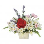 アートフラワー リリースプレー 〔テーブルタイプ〕 インテリア 部屋に飾る 花 おしゃれ ギフト 華やか 御祝 造花 プレゼント リビング 玄関 キッチン フラワー アレンジメント