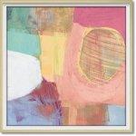 絵画 アブストラクト コレクション ジェーン デイビス「ファン カラーズ」 抽象画 おしゃれ 壁掛け アート フレーム 店舗 ホテル 額付き インテリア リビング レストラン 展示場