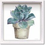 絵画 ロハス ミニアートフレーム リサ オーディット「ミックス グリーン サキュレント4」 額入り かわいい インテリア 壁飾り 絵 壁掛け 植物 癒やし ギフト リビング 玄関 廊下 プレゼント