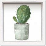 絵画 ロハス ミニアートフレーム リサ オーディット「ミックス グリーン サキュレント6」 額入り かわいい インテリア 壁飾り 絵 壁掛け 植物 癒やし ギフト リビング 玄関 廊下 プレゼント