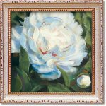 絵画 ミニゲル アートフレーム キャロル ローワン「ピオニー1」 ゆうパケット 額入り かわいい インテリア 壁飾り 絵 壁掛け 植物 癒やし ギフト リビング 玄関 廊下 プレゼント