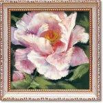 絵画 ミニゲル アートフレーム キャロル ローワン「ピオニー2」 ゆうパケット 額入り かわいい インテリア 壁飾り 絵 壁掛け 植物 癒やし ギフト リビング 玄関 廊下 プレゼント