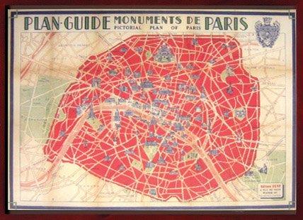 《カバリーニ世界地図》Cavallini map Pari guidemap(パリ・ガイドマップ)