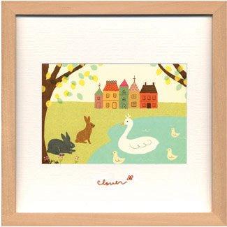 《アートフレーム》clover / Sachiko Mukai Square Frame696(向井さち子)(ゆうパケット)