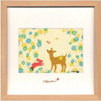 《アートフレーム》clover / Sachiko Mukai Square Frame698(向井さち子)(ゆうパケット)
