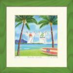 《水彩画・アートフレーム》Harumi Kurinoki-GR-S Beach Park(栗乃木ハルミ)