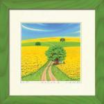 《水彩画・アートフレーム》Harumi Kurinoki-GR-S 菜の花の丘III(栗乃木ハルミ)