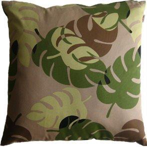 《クッションカバー》CHOU Cushion Cover Monstera/green(モンステラ/グリーン)(ゆうパケット)