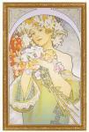 《名画》アルフォンス ミュシャ フラワー(1897)