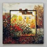 ビッグアート 名画ハイグロスシリーズ モネ「庭園のアーチスト」