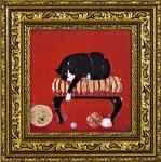 《絵画》ドミンゲス 子猫の毛糸