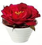 《造花・花瓶》クリエイティブフラワーアート ローズ(ワインレッド)