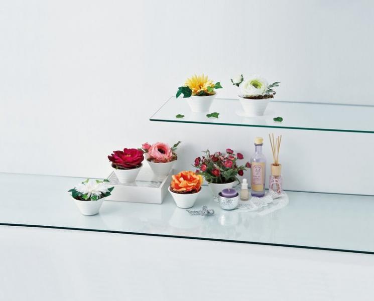 《造花・花瓶》クリエイティブフラワーアート ガーベラ(ホワイト)