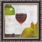 ミニゲル アートフレーム マグネット付 ファブリス ヴィルネーブ 「洋梨と赤ワイン」(ゆうパケット)