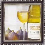 ミニゲル アートフレーム マグネット付 ファブリス ヴィルネーブ 「いちぢくと白ワイン」(ゆうパケット)