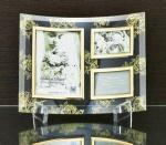 ゴールデンローズ ガラスフォトフレーム 3ウィンドー(クリア)