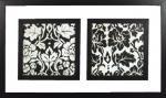 《アートフレーム》クリア フレーミング Mサイズ/ダブル ゴシア ガジュースカ「ブラック モチーフ1」