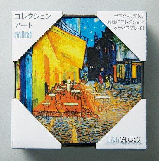 ハイグロス mini コレクションアート 「エレガントホワイトフラワー1」