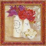 ミニ ゲル アートフレーム キャサリン ホワイト 「花盛り2」(ゆうパケット)