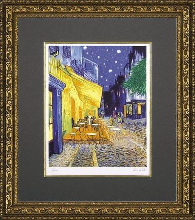 《名画》ミュージアムシリーズ(ジグレー版画) ゴッホ「夜のカフェテラス」